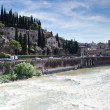 Stock Photo: River adige crosses verona