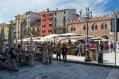Verona,square of grass — Stock Photo