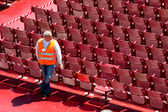 Workers in the arena of verona — Stock Photo