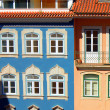 Colorful houses in Coimbra - Stock Photo
