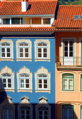 Colorful houses in Coimbra — Stock Photo