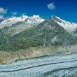 Aletsch glacier - Stock Photo