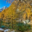 Lake of the witches (blue lake) Alp Devero - Stock Photo