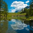 Aosta Valley, Blue Lake — Stock Photo