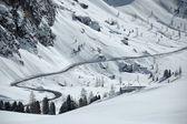 Snöig väg — Stockfoto