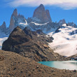 Mountain landscape with Mt. Fitz Roy in Patagonia, South America — Stock Photo