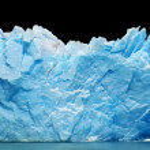 Icebergs isolated on black — Stock Photo