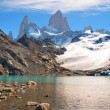 Mountain landscape with Mt. Fitz Roy in Patagonia, South America — Stock Photo #10749405