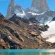 Stock Photo: Mountain landscape with Mt. Fitz Roy in Patagonia, South America