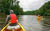 řeka kajak — Stock fotografie