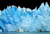 Buzdağları siyah izole — Stok fotoğraf