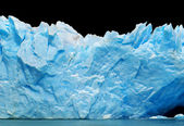 Icebergs isolated on black — Stock Photo