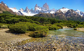 Scenic landscape in Los Glaciares National Park, Patagonia, Argentina — Stock Photo