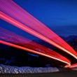 Light trails on a highway — Stock Photo