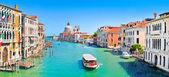 Vista panorámica del famoso canal grande en venecia, italia — Foto de Stock