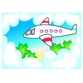 Airplane — Stock Vector
