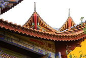 Chinese style roof eaves, Huating buddhist temple. — Stock Photo