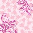 Royalty-Free Stock Vector Image: Decorative pink floral background
