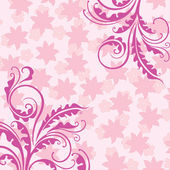 Decorative pink floral background — Stock Vector