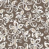 Excellent seamless floral background — Stock Vector