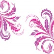 Decorative floral background — Image vectorielle