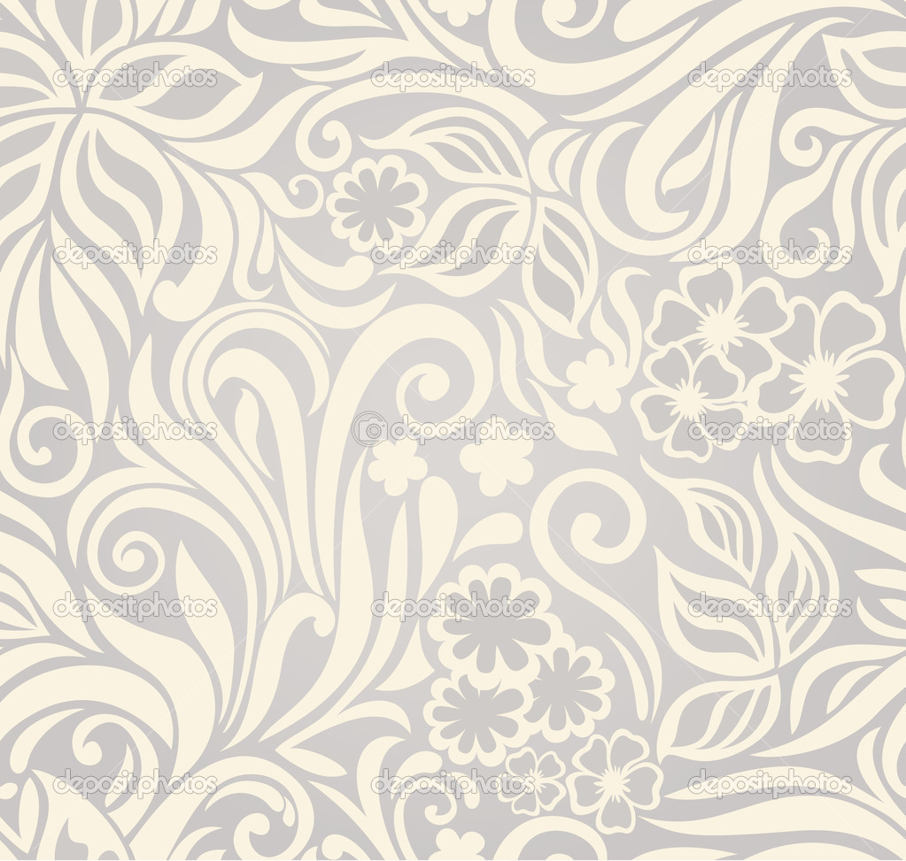 Seamless Flower Background Free Curly Seamless Background