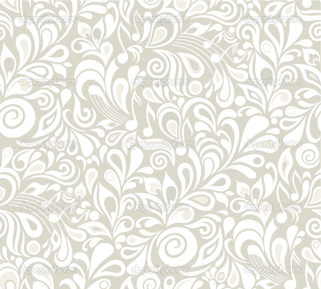 Decorative vector musical floral seamless background with notes and leaves — Stock Vector #11408327