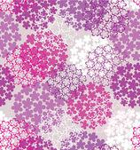 Decorative seamless flower background — Stock Vector