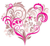 Beautiful background with heart — Stock Vector