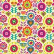 Decorative colorful funny seamless pattern — Stock Vector