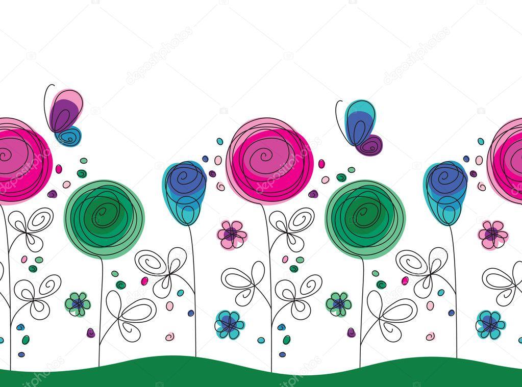 Immagini tralcio fiori disegnati colorati for Fiori disegnati