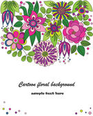 Decorative colorful cartoon flower illustration — 图库矢量图片
