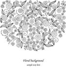 Decorative flower illustration — Stock Vector