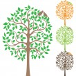 Royalty-Free Stock Imagen vectorial: Two birds on the tree