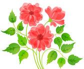 Färgstark blomma kort — Stockvektor