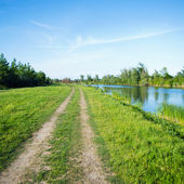 Pathway by the river — Stock Photo