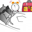 An alarm clock. — Stock Vector