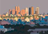 Metropol panoraması — Stok Vektör