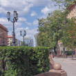 Summer alley in Minsk downtown — Stock Photo