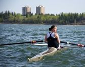 Rowing for Gold — Stock Photo