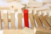 лидерство и команда аннотация бизнес-концепция — Стоковое фото
