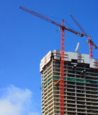 Construction with cranes — Stock Photo