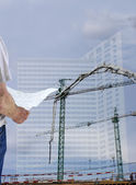 Construction blueprints and vision concept — Stock Photo