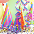 Colorful party background with balloons — Stock Photo