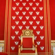 Throne of polish king in Warsaw castle — Stock Photo