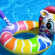 Toy and blue water in the swimming pool - Foto de Stock