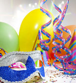 Party accessories abstract background — Stock Photo