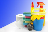 Cleaning set accessories for cleaner — Stock Photo