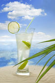 Exotic drink on the beach — Stock Photo