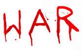 Oorlog bloedige inscriptie — Stockfoto